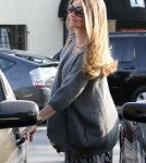 Pregnant Rebecca Gayheart shopping at Sunset Plaza in Los Angeles, CA on October 21st, 2011.