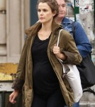 keri Russel runs errands in NYC, NY on October 13, 2011 where she showed off her growing baby bump
