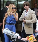 rachel Zoe in town for Paris Fashion Week with hubby Rodger Berman and super cute baby boy Skyler in Paris, France on October 1st, 2011.