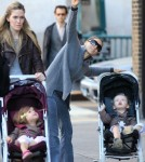 Sarah Jessica Parker walks the Kids to School