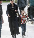 Gwen Stefani goes for a stroll with Kingston in Primrose Hill, London.