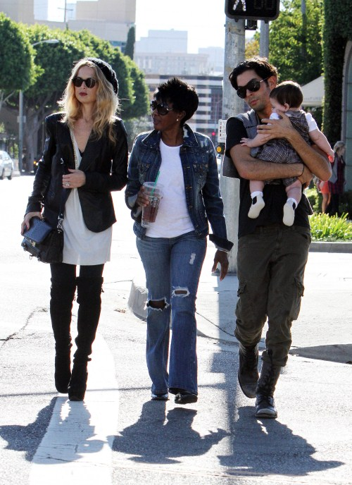 Rachel Zoe takes son Skyler Berman out with her and her assistants as she stylishly runs errands in Los Angeles, CA on October 8, 2011.