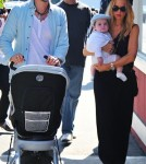 Rachel Zoe and her husband Rodger Berman take their baby son Skylar to the Brentwood Country Mart.