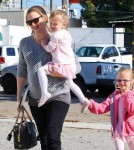 Jennifer Garner, Violet and Seraphina leave Ballet Class November 5 2011