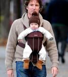 Jane Krakowski and her husband Robert Godley take a stroll through SoHo with their son Bennett
