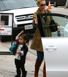 Katherine Heigl, her daughter Naleigh, and Katherine's mother Nancy lunched at Cliffs Edge restaurant in Los Angeles, California on November 12th, 2011.