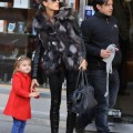 Alessandra Ambrosio is spotted out with her daughter Anja Louise enjoying the day in SoHo