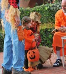 Alyson Hannigan Trick-Or-Treats With Her Family