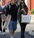 alanis Morissette did some shopping in Brentwood, California on November 23, 2011 with her husband Mario and their son Ever Morissette-Treadway.