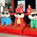 Alvin & The Chipmunks Immortalized With Hand And Footprint Ceremony held at The Grauman's Chinese Theatre in Hollywood, California on November 1st, 2011.