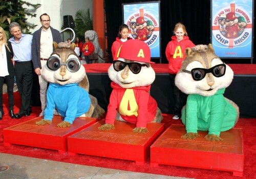 "Alvin & The Chipmuncks Honored With a ""Paw-Print"" Ceremony"