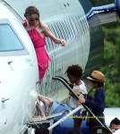 Angelina Jolie and her Children flying out of Vietnam's Con Dao airport, Nov 16