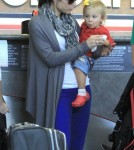 Bethenny Frankel and daughter Bryn arrived for a flight at LAX airport in Los Angeles, California (October 31)
