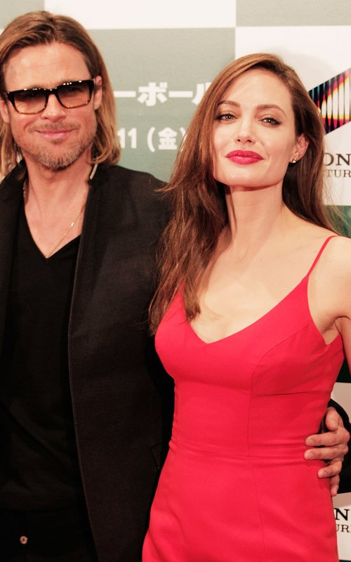 Brad Pitt & Angelina Jolie At The Moneyball Premiere in Tokyo