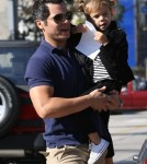 Cash Warren, husband of actress Jessica Alba, took his daughter Honor out to breakfast at Urth Café in Los Angeles, California on November 9, 2011.