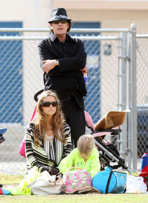 Charlie Sheen & Denise Richards Cheer On Sam
