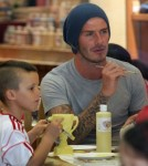 David Beckham spent time with his boys at a local Color Me Mine in Los Angeles, California on November 13, 2011 painting pottery pieces.