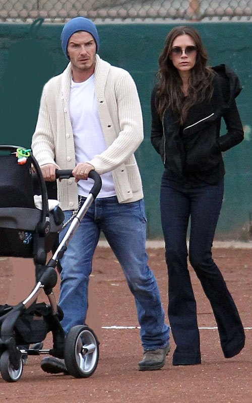 Victoria & David Beckham's Family Soccer Day