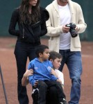 Victoria and David Beckham Take Harper Seven To Watch Romeo and Cruz Play In A Soccer Game