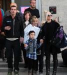 Gwen Stefani With Husband Gavin Rossdale and Children Kingston and Zuma