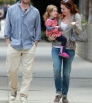 Alyson Hannigan and her husband Alexis Denisof take a stroll around Santa Monica with their baby Satyana