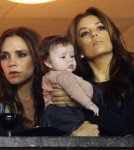Victoria Beckham and Eva Longoria with Harper