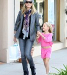 Heidi Klum took her two daughters Leni and Lou Samuel shopping at Ragg Tatto in Beverly Hills, California on November 3rd, 2011.