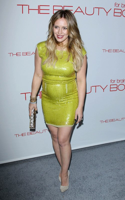 Hilary Duff and Mike Comrie at The Beauty Book for Brain Cancer Launch