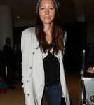 Jessica Biel makes her way out of the airport in Los Angeles, CA on October 10, 2011