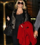 Jessica Simpson continues to flaunt her baby bump in NYC, NY on October 25, 2011 where the singer shopped before heading back to her hotel.