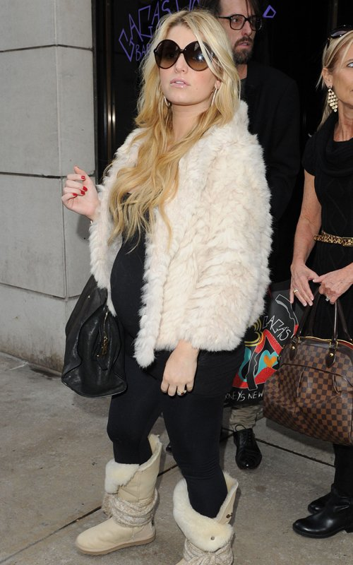 Jessica Simpson at Barney's in New York City on Monday (November 28).