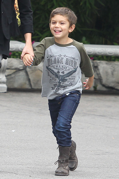 Gwen Stefani's kids Kingston and Zuma go out for a play date at Pinz Bowling in Studio City.
