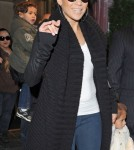 Jennifer Lopez and her twins, Max and Emme, were spotted leaving their NYC hotel on Tuesday (November 8).
