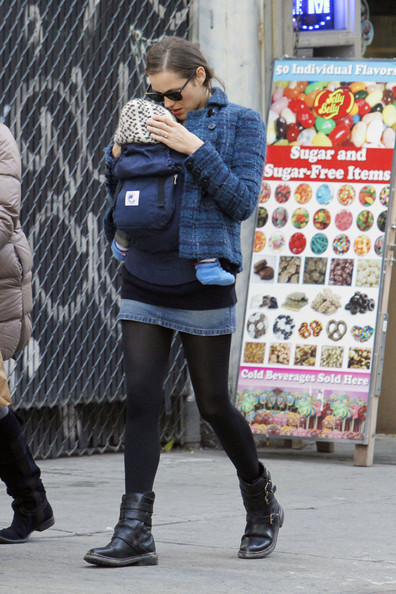 Marion Cotillard Shops With Son Marcel