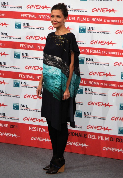"Maggie Gyllenhaal attends the photo call for the film ""Hysteria"" at the 6th Annual Rome Film Festival in Rome, Italy on October 28th, 2011."