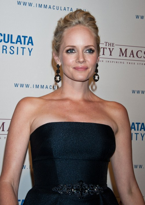 """The Mighty Macs"" World Premiere took place at the Kimmel Center in Philadelphia, PA on October 14, 2011. Pictured here is actress Marley Shelton"