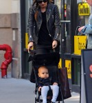 Miranda Kerr in Manhattan with her son Flynn (November 12).