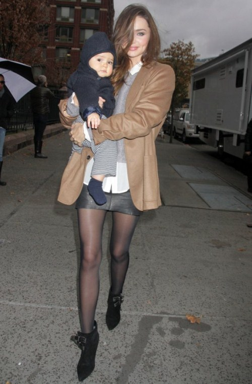 Miranda Kerr and Flynn in New York City on Tuesday (November 22).