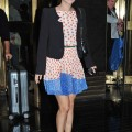 "Rachel Bilson arrives at the ""Jimmy Fallon Show"" in New York, New York on October 6, 2011. Bilson is on the show to promote her new CW series, ""Hart of Dixie."""