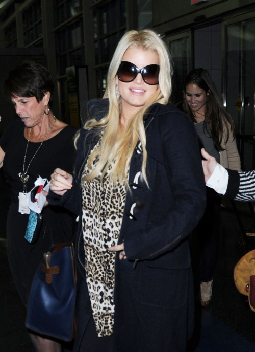 Jessica Simpson was spotted at JFK airport in New York on October 28th, 2011.