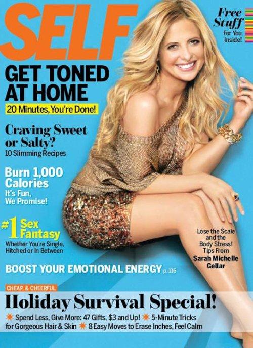 Sarah Michelle Gellar Cover Self Magazine December 2011