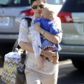 Selma Blair and Jason Bleick take son Arthur to the Mulholland Tennis Club in Los Angeles, Calif. on Sunday (November 27).