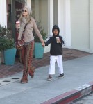 Heidi Klum and her son Henry stop by Starbucks after a karate class in Los Angeles.