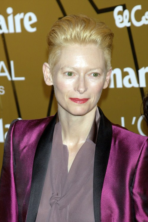 Tilda Swinton attend Marie Claire's Prix de la Moda Awards 2011 at the French Ambassador's Residence in Madrid, Spain on November 17th 2011.
