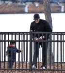 New England Patriots quarterback Tom Brady has quality time with his son, Benjamin