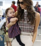 Victoria and Harper at LAX Airport in Los Angeles, California on Saturday afternoon (November 26).
