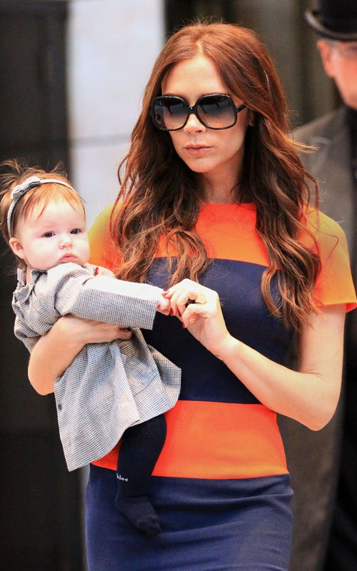 Victoria Beckham and daughter Harper Seven in New York City (November 15).
