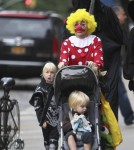 Naomi Watts and husband Liev Schreiber take the kids out for some Trick or Treating in New York City. The family was seen heading over to a local children's park in their West Village neighborhood.