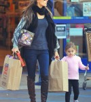 Alessandra Ambrosio out in Santa Monica With Anja (December 8).
