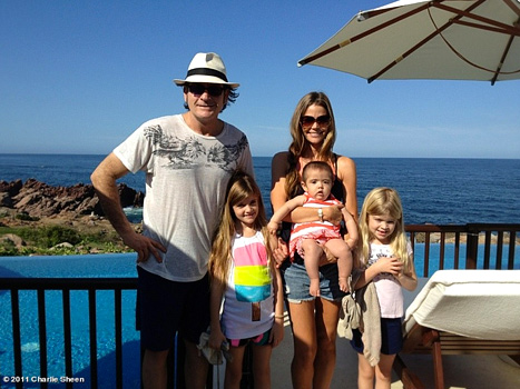 Charlie Sheen On Family Vacation With Denise Richards